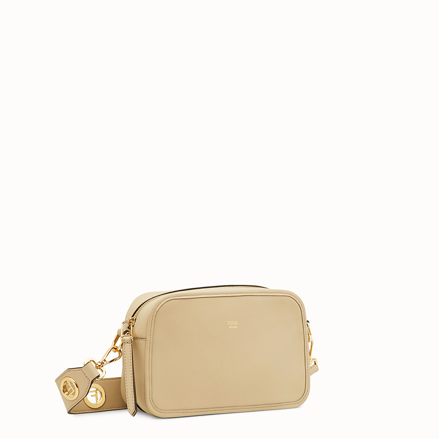 FENDI CAMERA CASE - Beige leather bag - view 2 detail