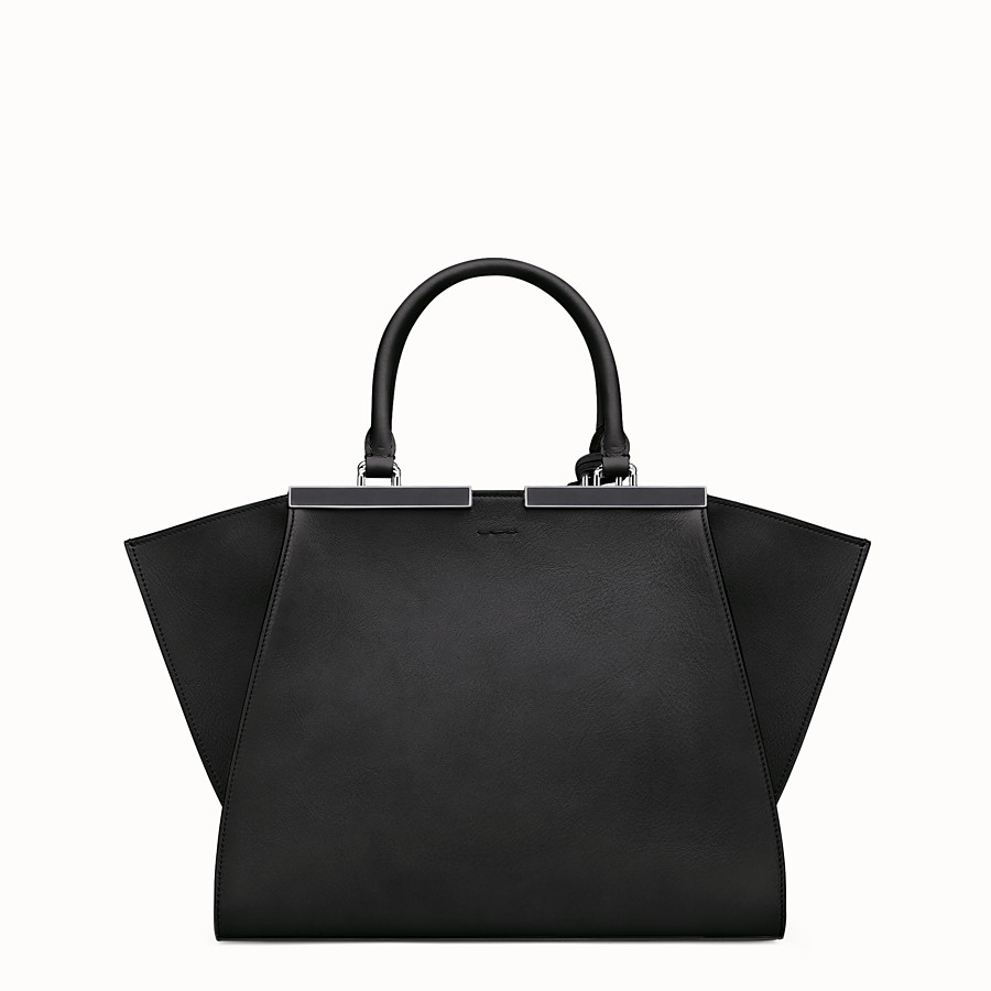 FENDI 3JOURS - shopping bag in black leather - view 3 detail