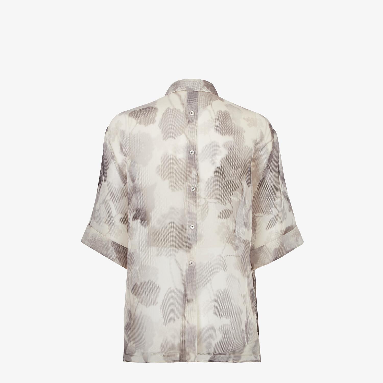 FENDI SHIRT - Gray organza shirt - view 2 detail