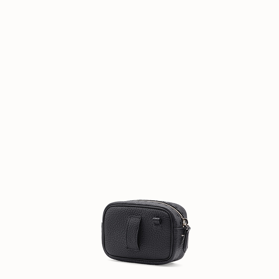 FENDI SMALL CAMERA CASE - Black leather bag - view 2 detail