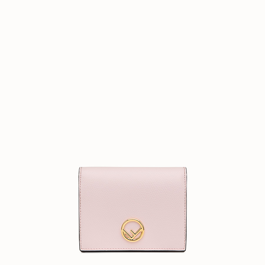 FENDI BIFOLD - Pink leather compact wallet - view 1 detail