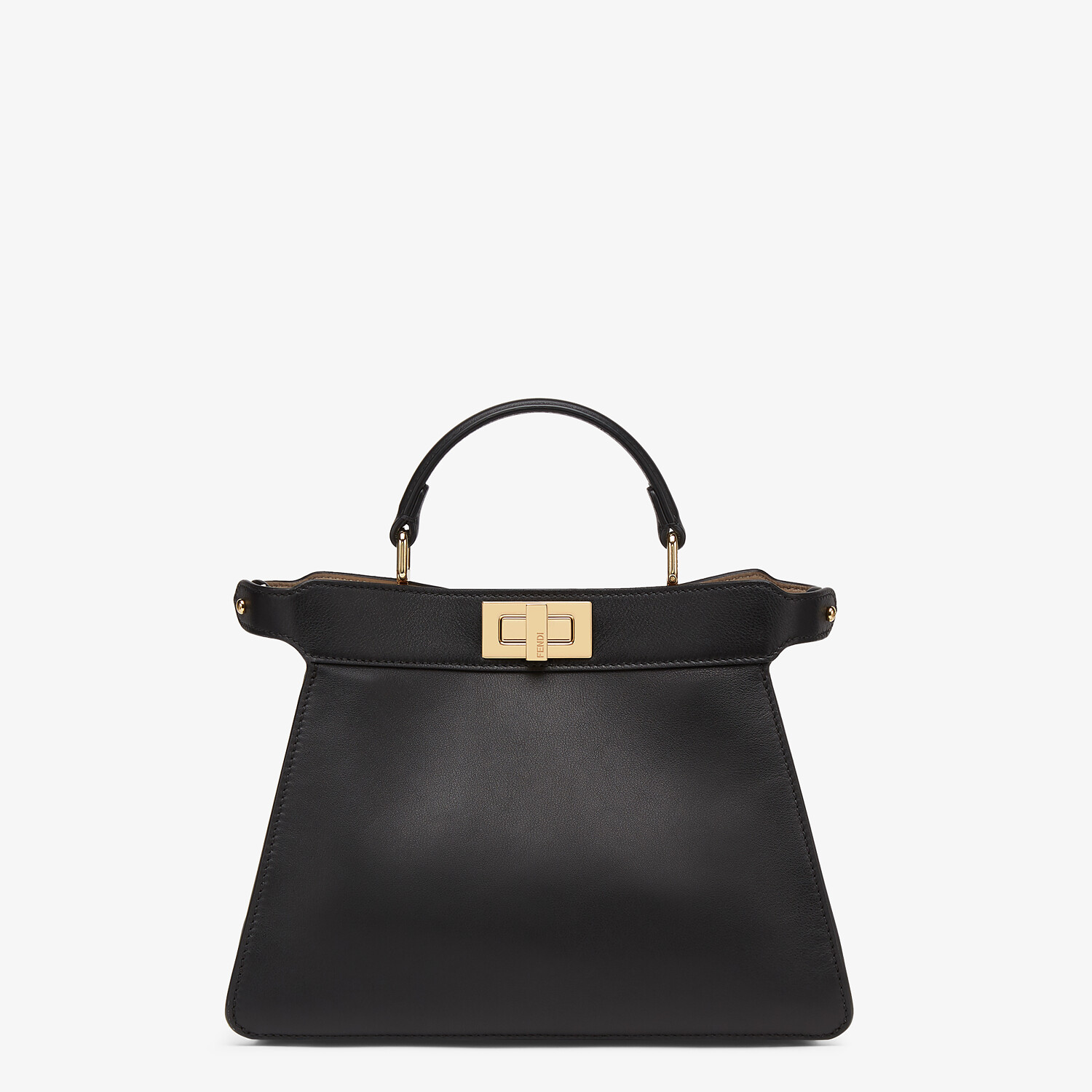 FENDI PEEKABOO ISEEU SMALL - Black leather bag - view 1 detail
