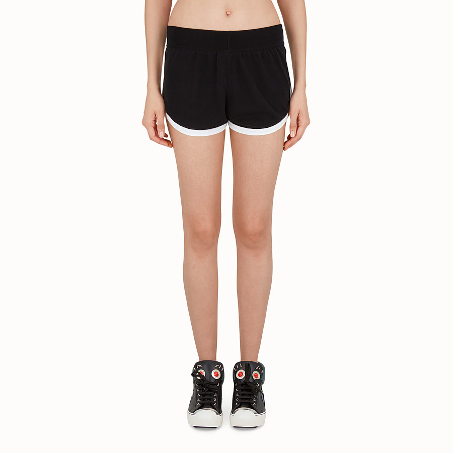 FENDI SHORTS - Shorts in black technical fabric - view 1 detail