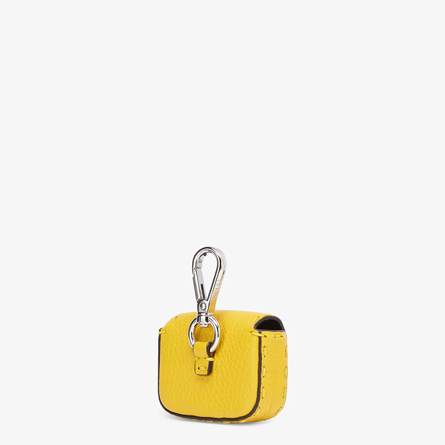 FENDI AIRPODS COVER - Yellow leather cover - view 2 detail