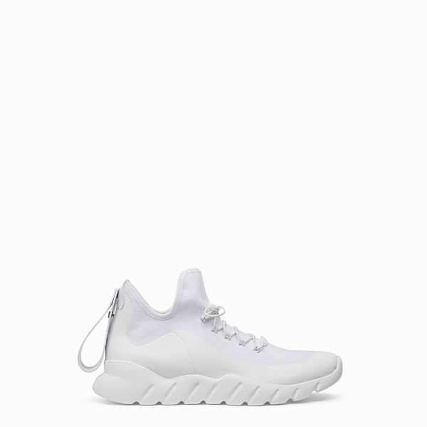 FENDI SNEAKERS - White Knitted sneakers - view 1 small thumbnail