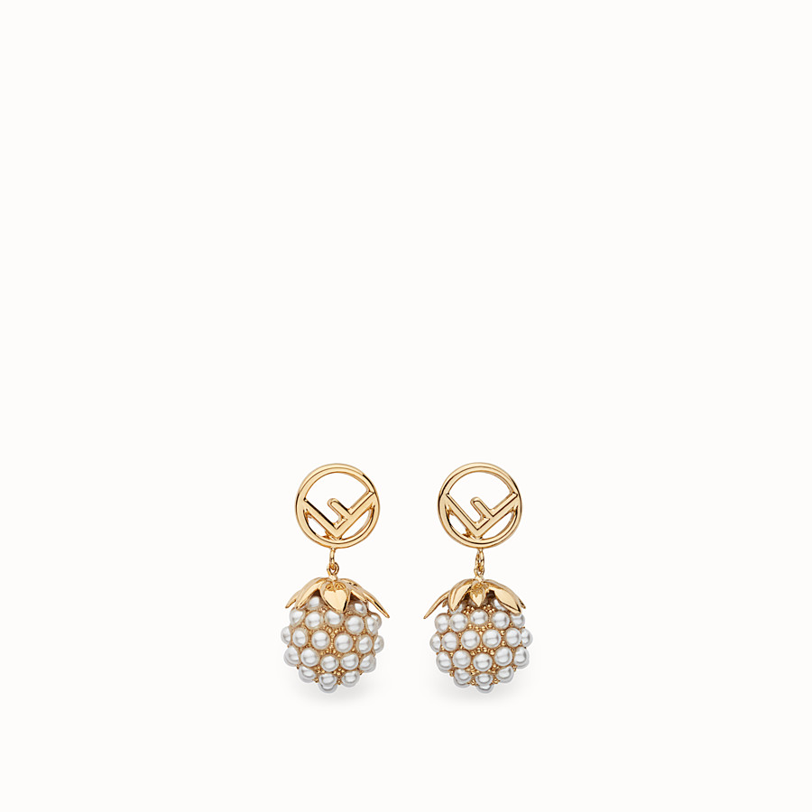 FENDI FENDI FRUIT EARRINGS - Gold colour earrings - view 1 detail