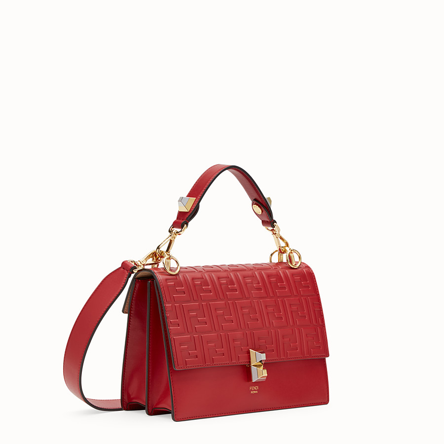 FENDI KAN I - Sac en cuir rouge - view 2 detail