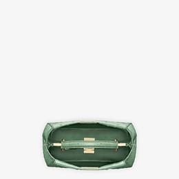 FENDI PEEKABOO ICONIC MINI - Green ostrich leather handbag. - view 4 thumbnail
