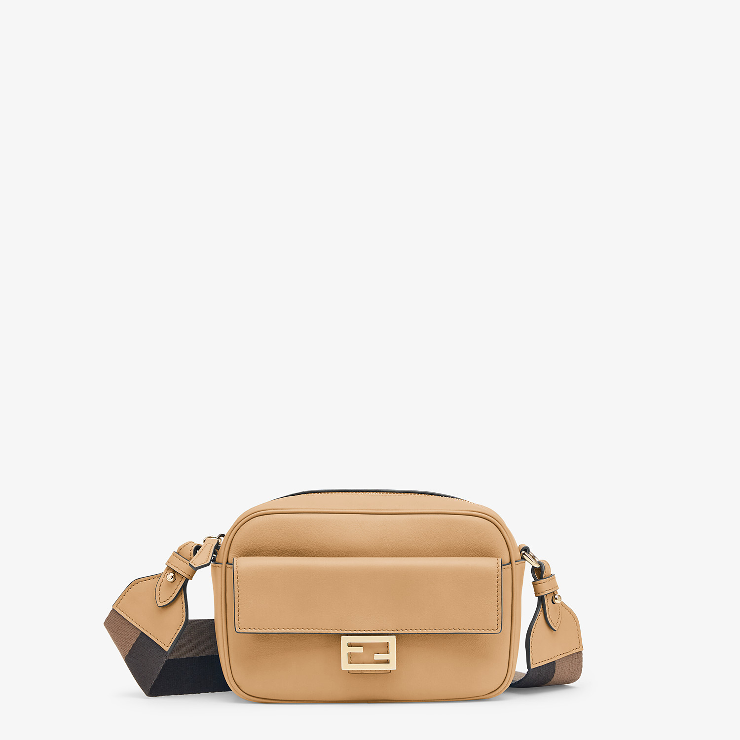 FENDI MINI FENDI CAM - Beige leather mini-bag - view 1 detail