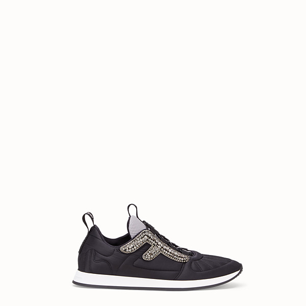 FENDI SNEAKERS - Sneaker aus Satin in Schwarz - view 1 small thumbnail