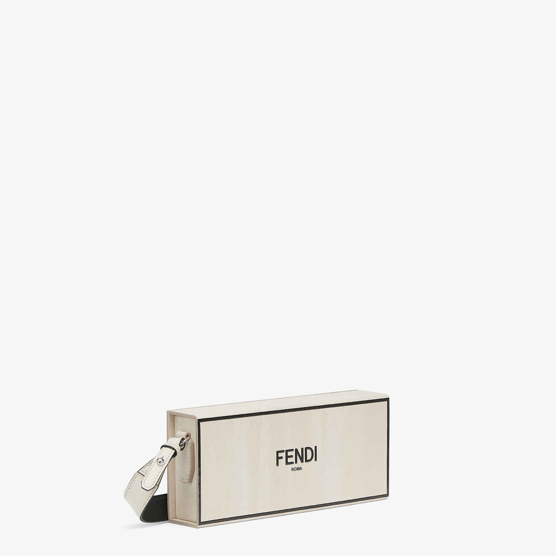 FENDI HORIZONTAL BOX - White leather bag - view 2 detail