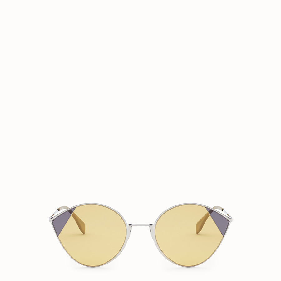 FENDI CUT-EYE - A/W18 Fashion Show silver-colour sunglasses - view 1 detail