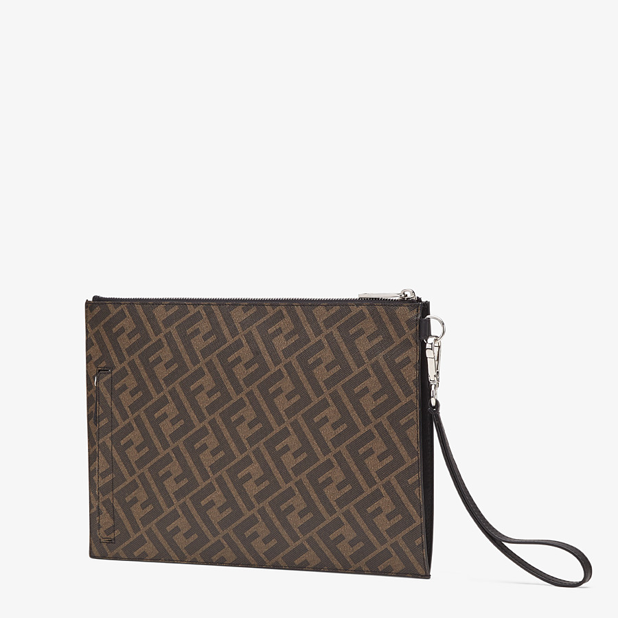 FENDI FLAT POUCH - Brown fabric bag - view 2 detail