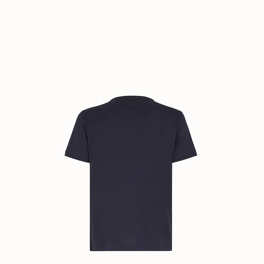 FENDI T-SHIRT - Blue fabric T-shirt - view 2 detail