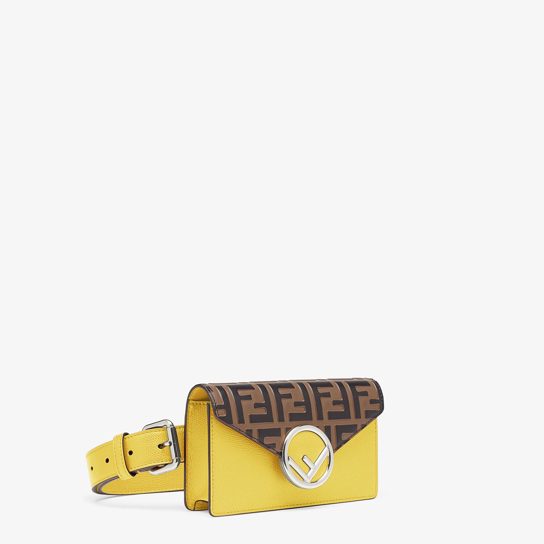 FENDI BELT BAG - Yellow leather belt bag - view 2 detail