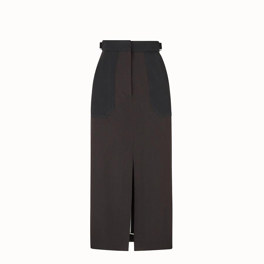 FENDI スカート - ブラックギャバジン スカート - view 1 detail