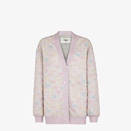FENDI JACKET - Pink quilted fabric blouson jacket - view 1 thumbnail