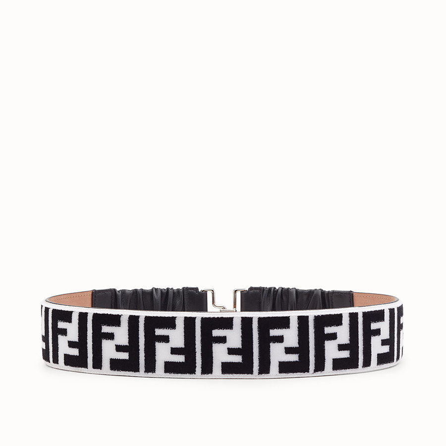 FENDI BELT - White and black fabric belt - view 1 detail