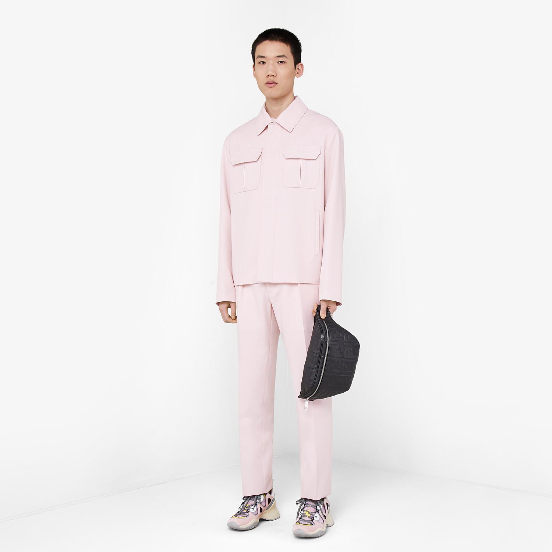 FENDI PANTS - Pink wool pants - view 4 detail