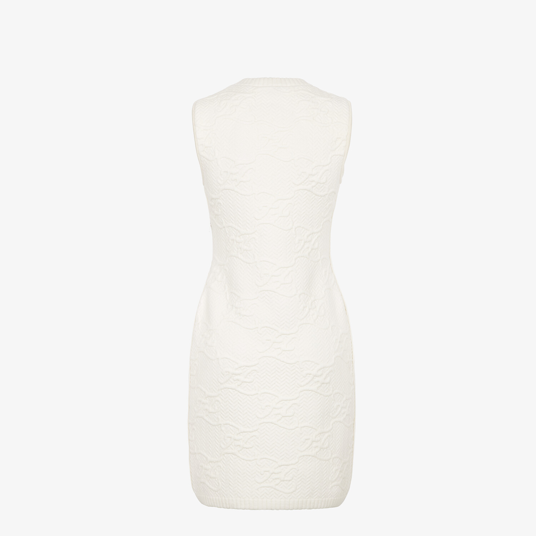 FENDI DRESS - White wool and cashmere dress - view 2 detail