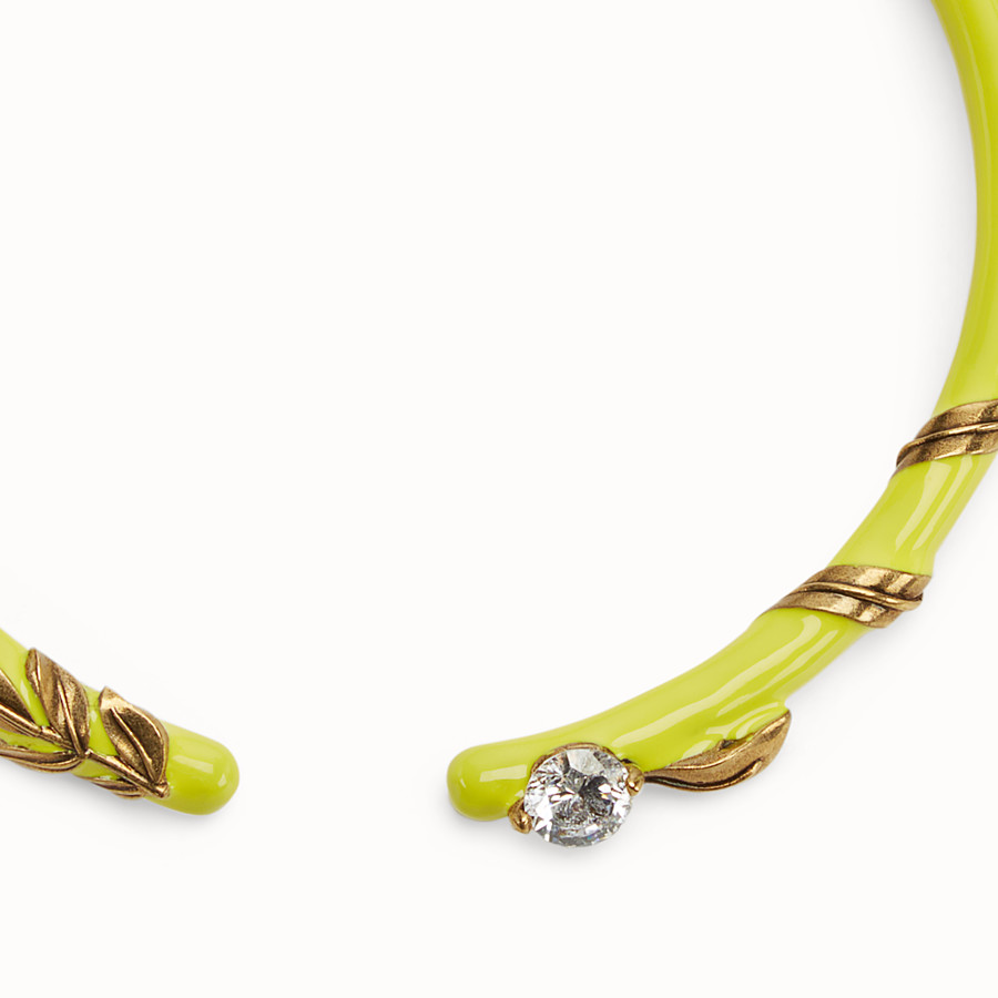 FENDI JULIUS CAESAR CHOKER - Yellow and gold coloured necklace - view 2 detail