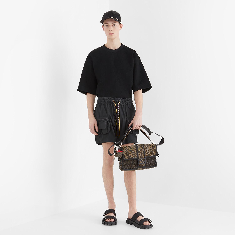 FENDI BERMUDAS - Black nylon pants - view 4 detail