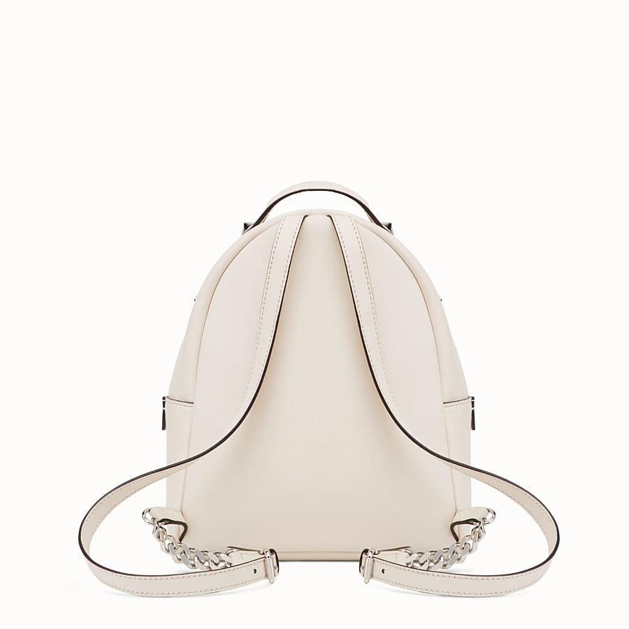 FENDI MINI BACKPACK - Small white leather backpack - view 3 detail