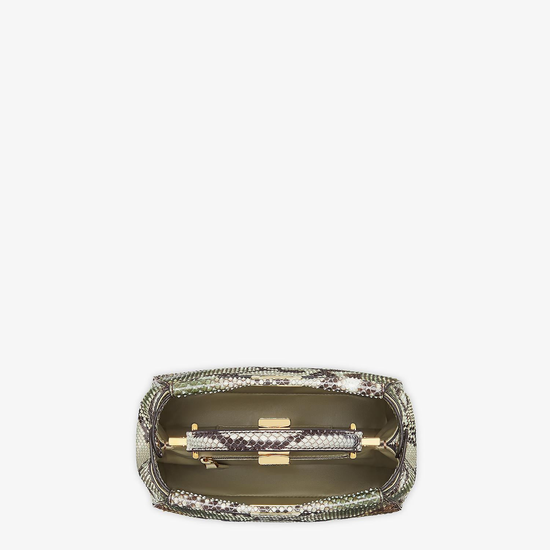 FENDI PEEKABOO ICONIC MINI - Green python bag - view 5 detail