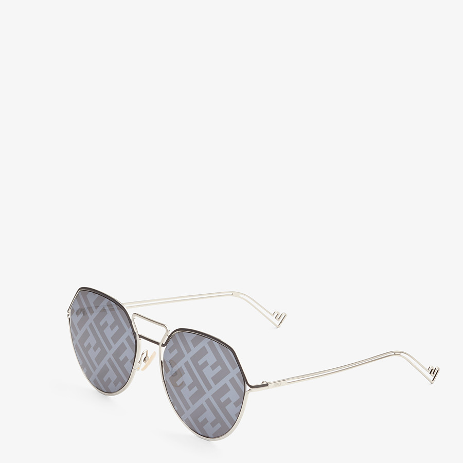 FENDI FENDI GRID - Black and palladium sunglasses - view 2 detail