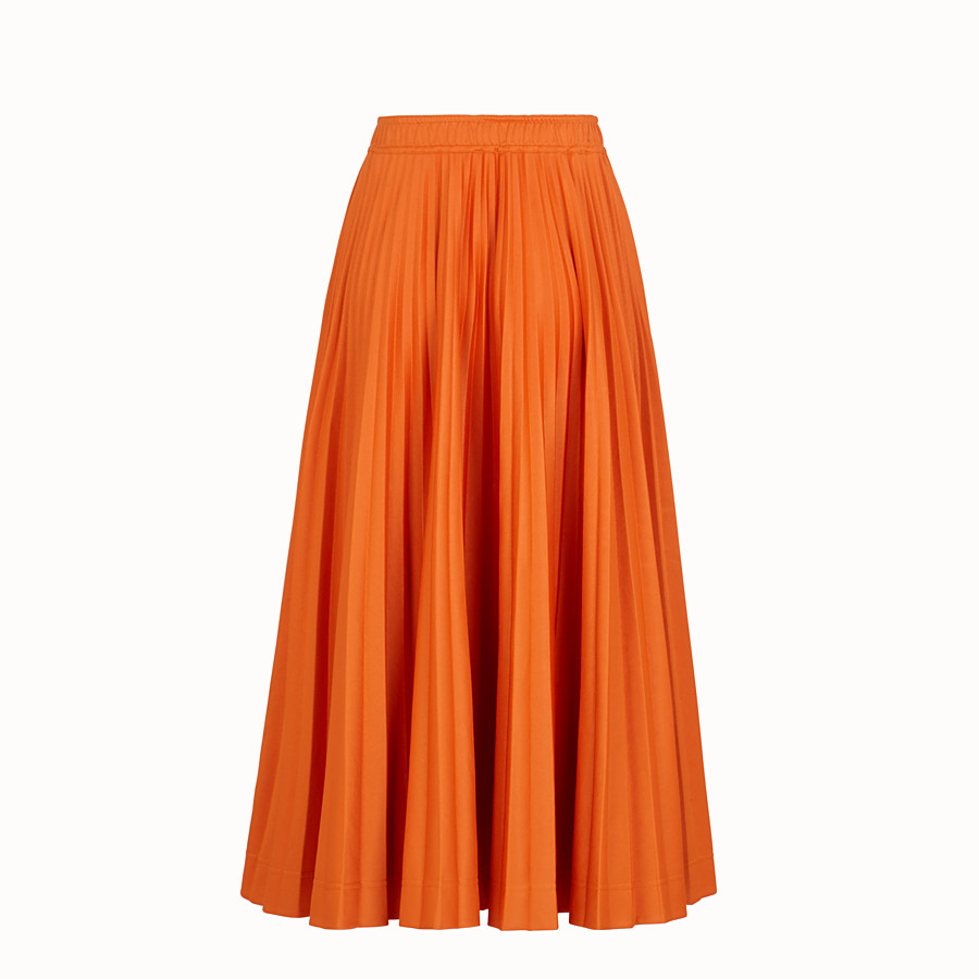 FENDI SKIRT - Orange cotton jersey skirt - view 2 detail