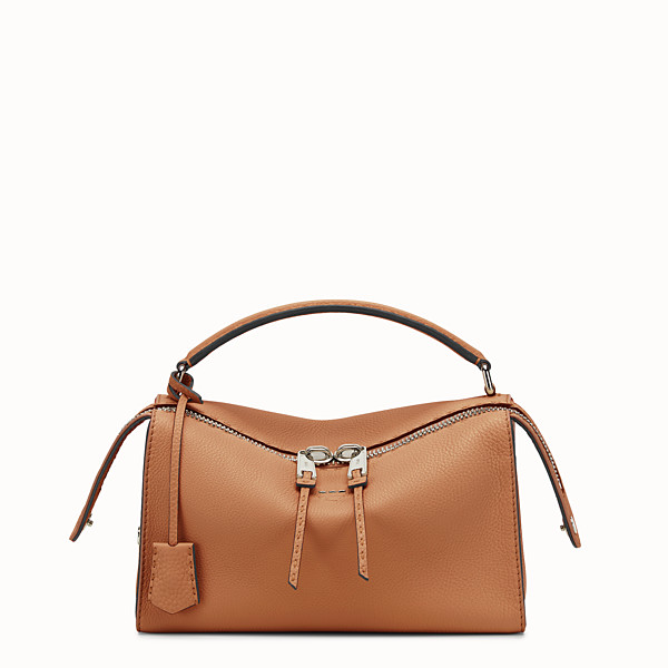 FENDI LEI SELLERIA BAG - Toffee Roman leather Boston bag - view 1 small thumbnail