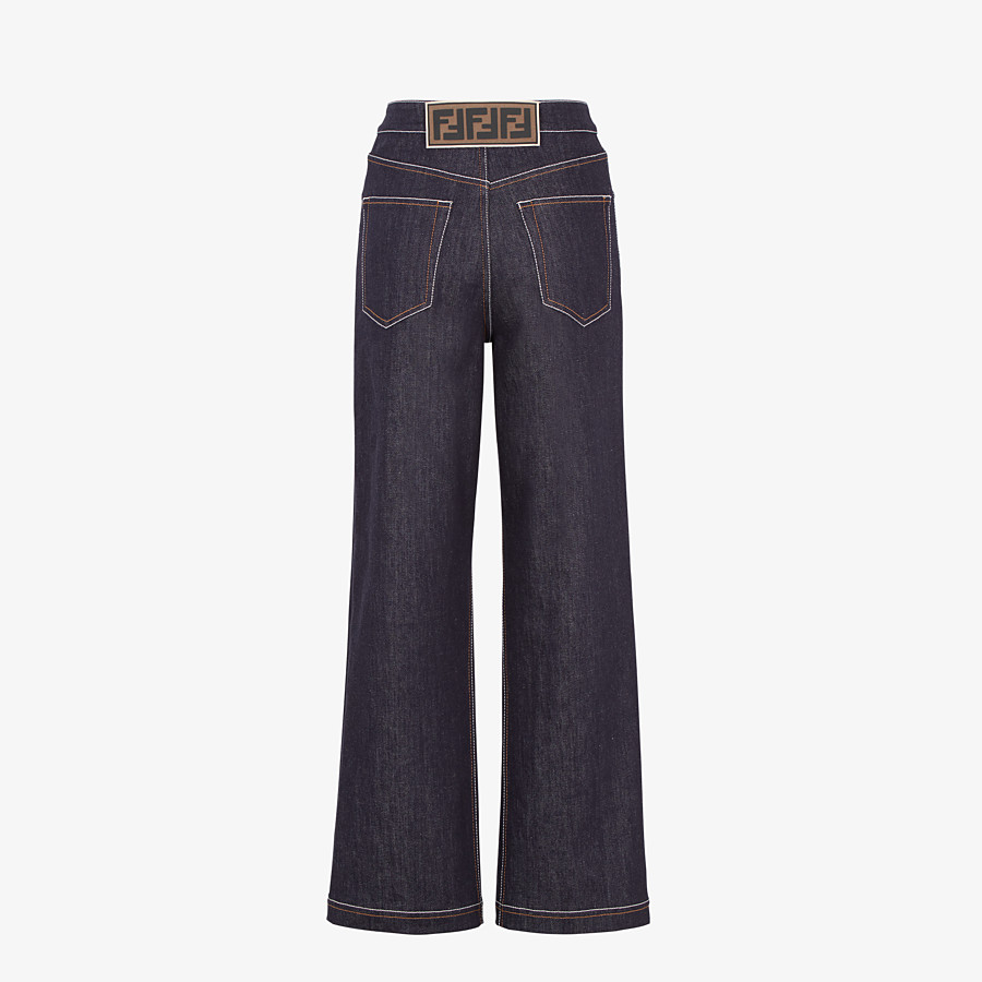 FENDI PANTS - Blue denim pants - view 2 detail