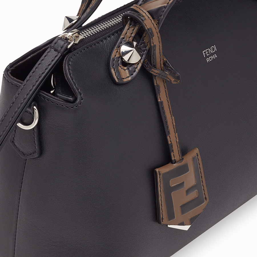FENDI BY THE WAY REGULAR - Black leather Boston bag - view 5 detail