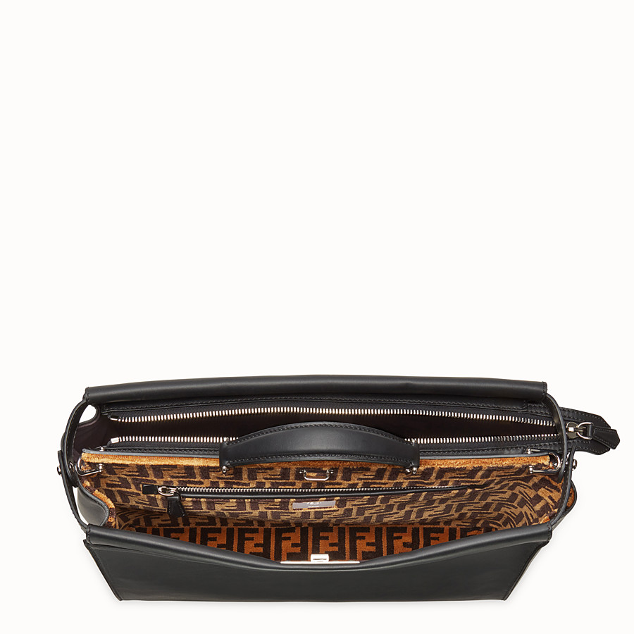 FENDI PEEKABOO ICONIC - Black leather bag - view 4 detail