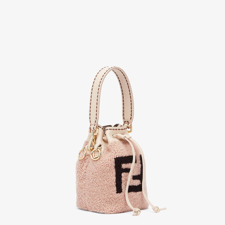 FENDI MON TRESOR - Pink sheepskin mini-bag - view 2 detail
