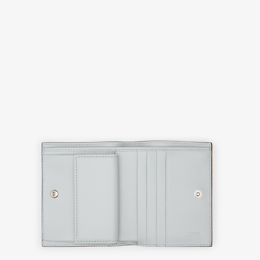 FENDI BIFOLD - Grey leather compact wallet - view 4 detail