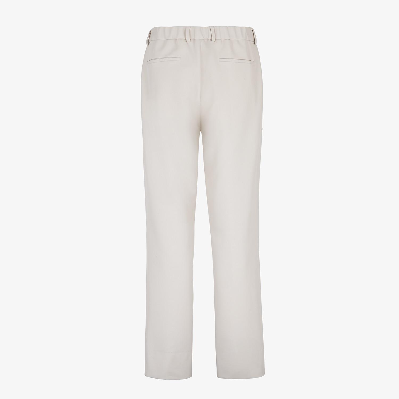 FENDI TROUSERS - White wool trousers - view 2 detail
