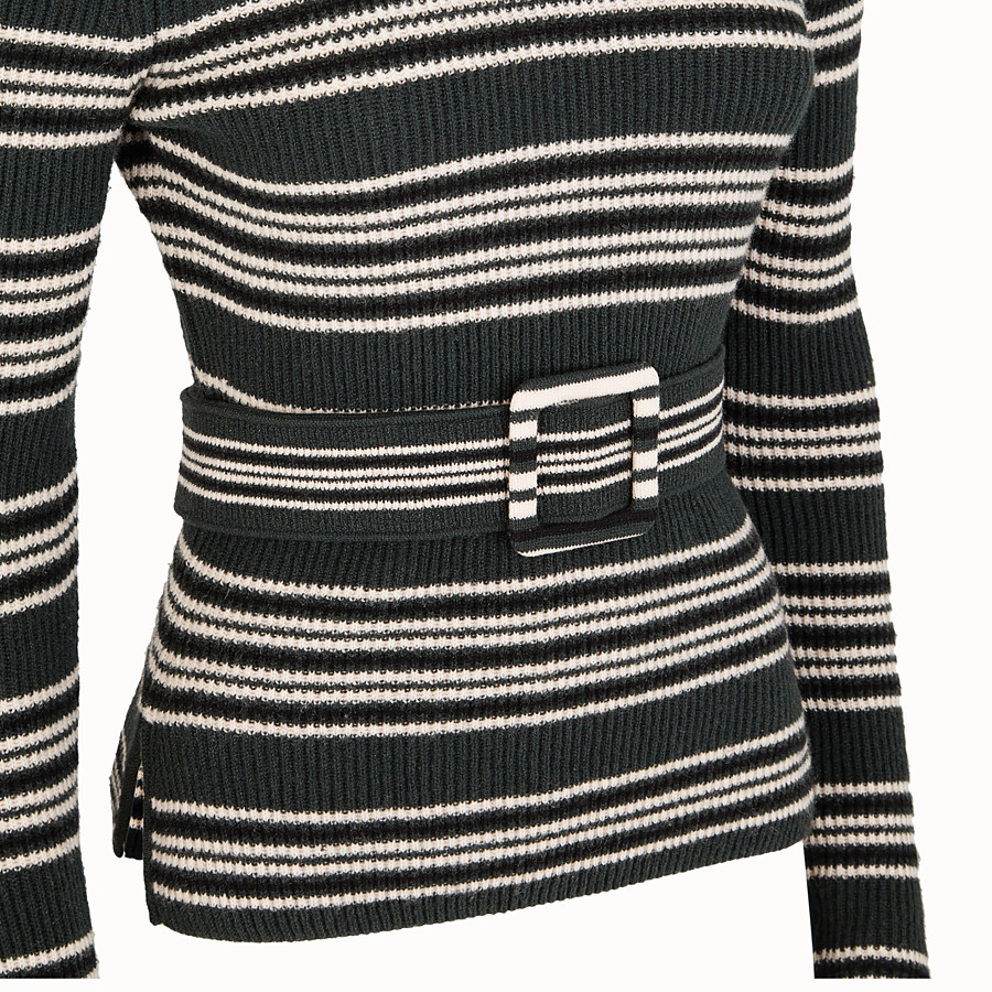 FENDI JUMPER - Multicolour wool and cashmere jumper - view 3 detail