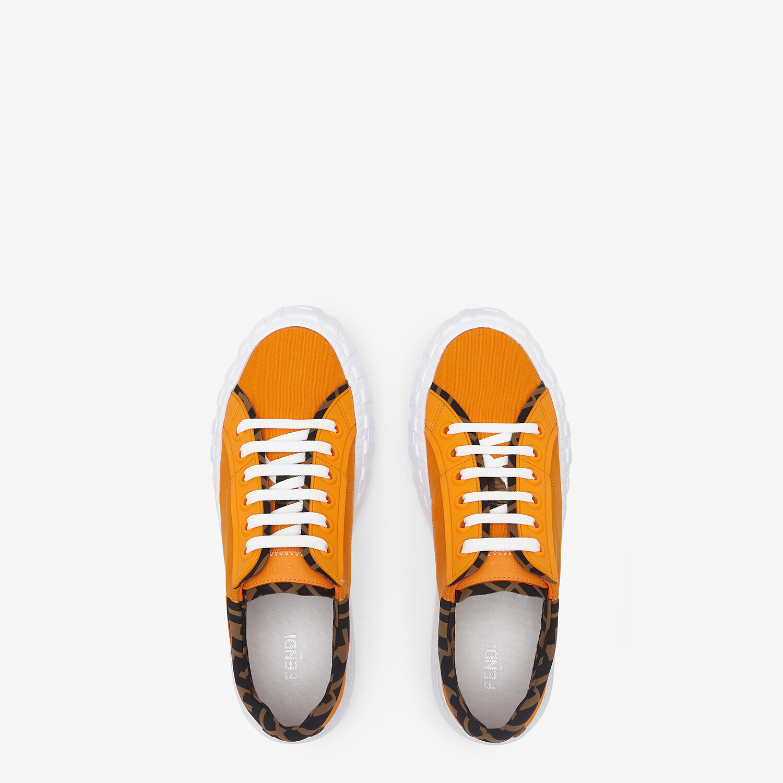 FENDI SNEAKER - Low-Top aus Canvas in Orange - view 4 detail