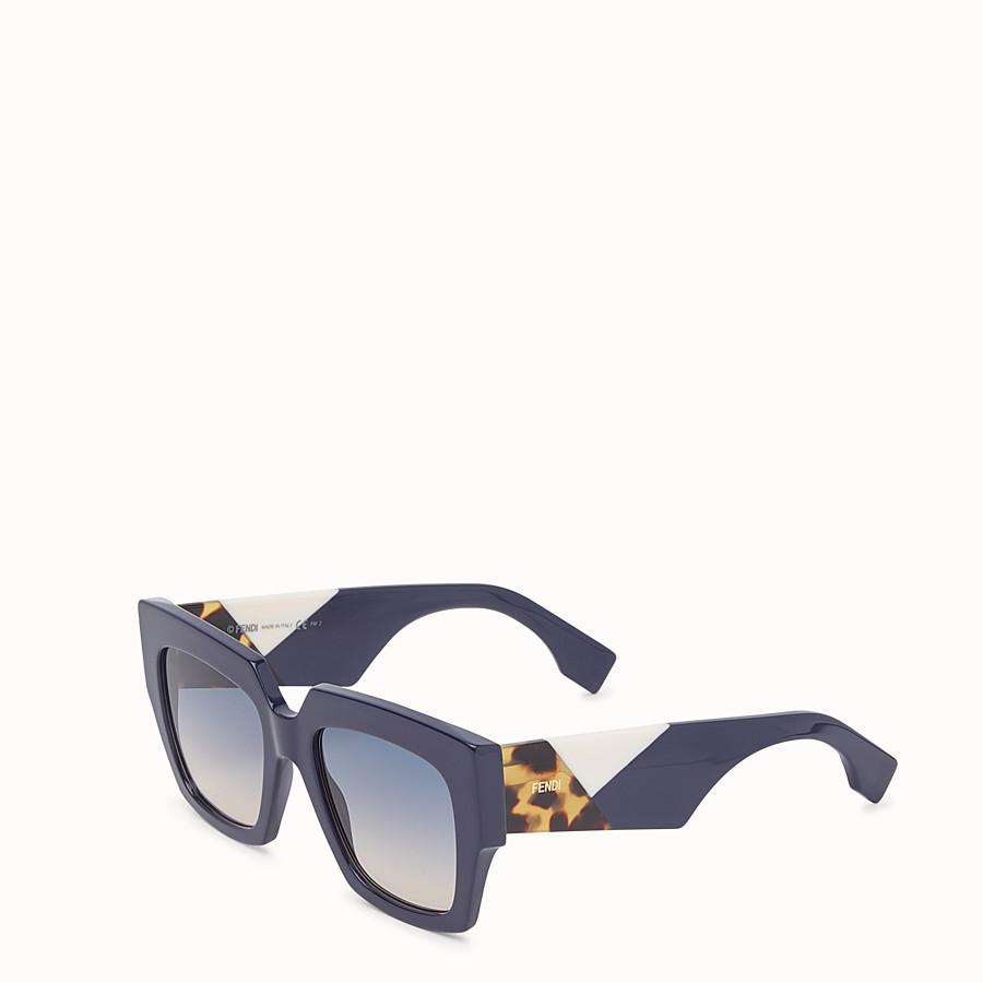 FENDI FENDI FACETS - Blue sunglasses - view 2 detail