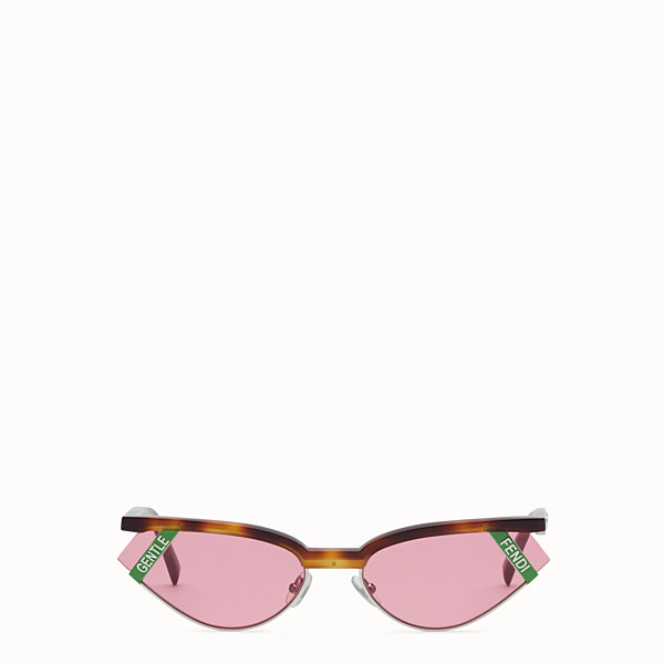 FENDI GENTLE Fendi No. 1 - Havana and pink sunglasses - view 1 small thumbnail