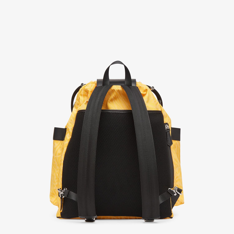 FENDI DRAWSTRING BACKPACK - Yellow FF Vertigo fabric backpack - view 3 detail