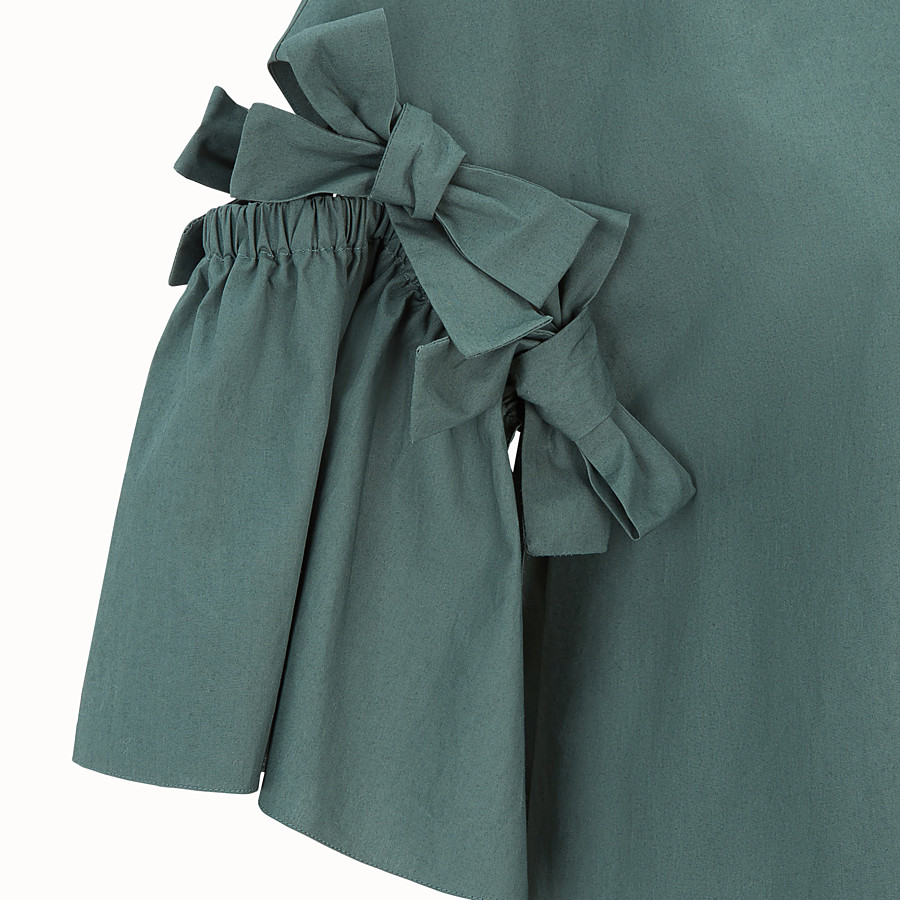 FENDI DRESS - Green cotton dress - view 3 detail