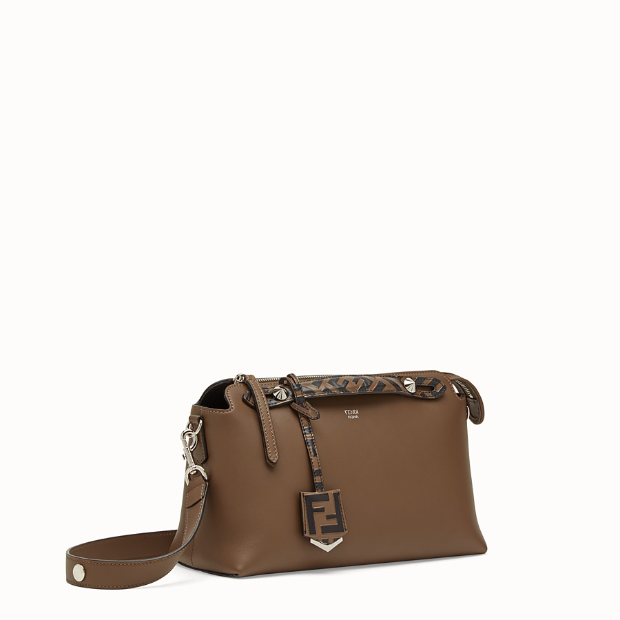 FENDI BY THE WAY REGULAR - Brown leather Boston bag - view 2 detail