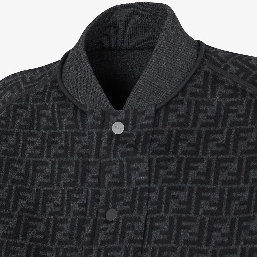 FENDI BOMBER JACKET - Grey wool jacket - view 4 detail
