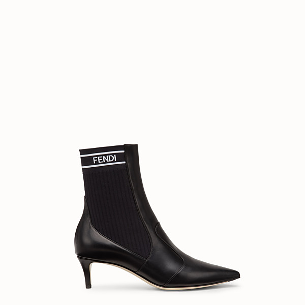 FENDI ANKLE BOOTS - Black leather ankle boots - view 1 small thumbnail