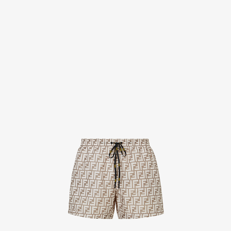 FENDI SWIM SHORTS - Beige Lycra® shorts - view 1 detail