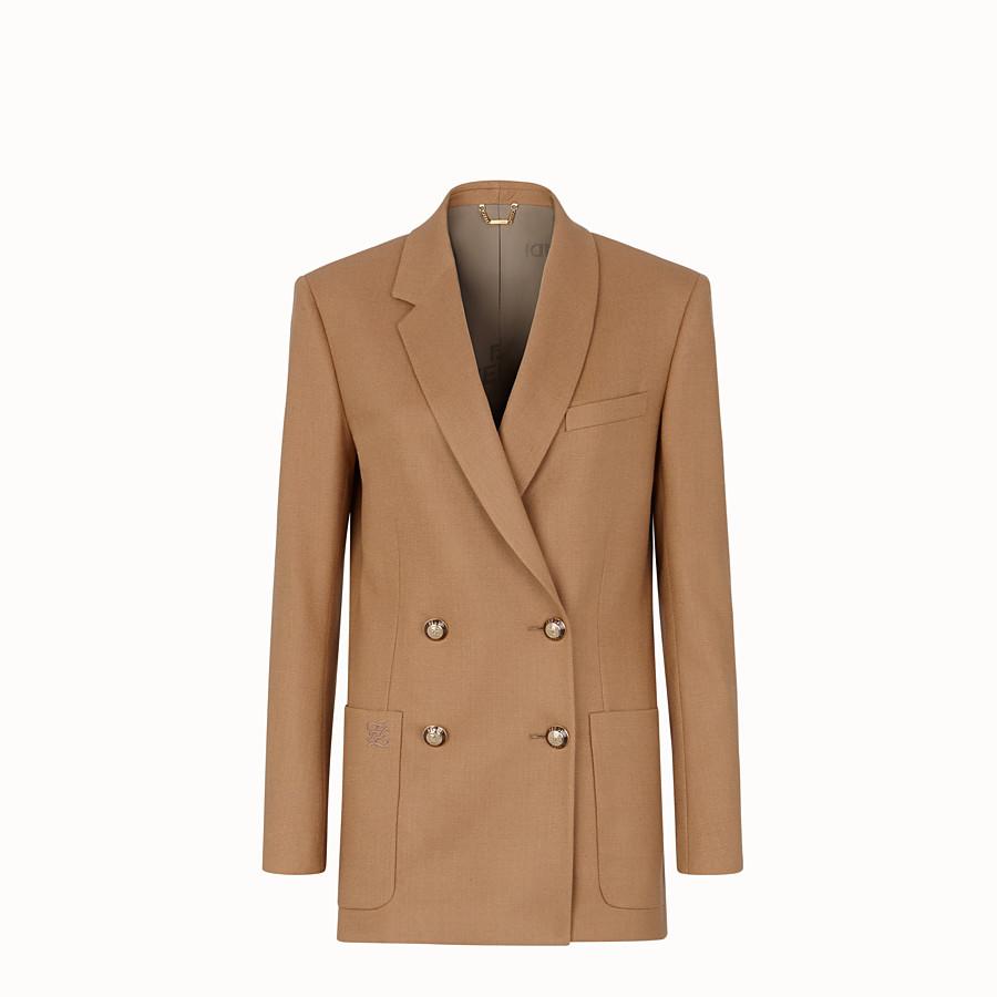 FENDI JACKE - Blazer aus Wolle in Beige - view 1 detail
