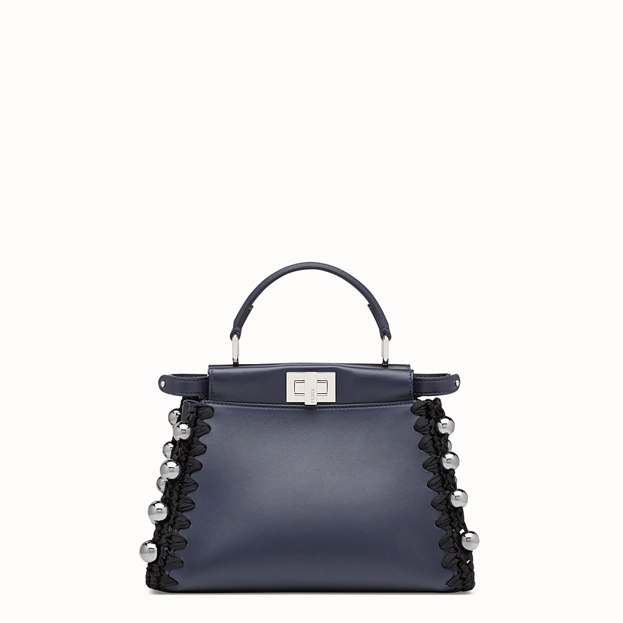 FENDI PEEKABOO MINI - Blue nappa bag - view 1 detail