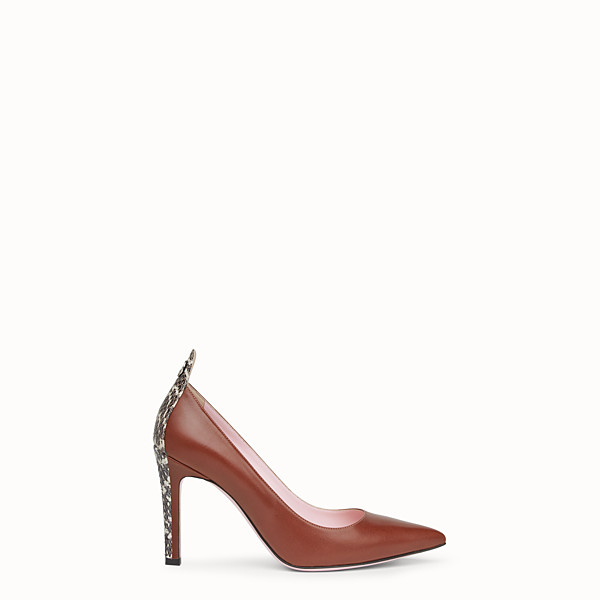 FENDI COURT SHOES - Brown leather court shoes - view 1 small thumbnail